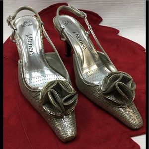 Statement J. Renee Silver & Gold Heels